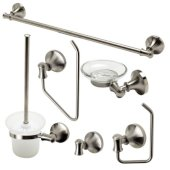 AB9521 Series Brushed Nickel 6-Piece Matching Bathroom Accessory Set