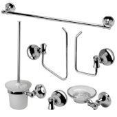 AB9521 Series Polished Chrome 6-Piece Matching Bathroom Accessory Set