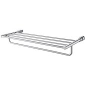 Polished Chrome 24'' Towel Bar & Shelf  Bathroom Accessory, 24-3/4'' W x 9-1/4'' D x 3-5/8'' H
