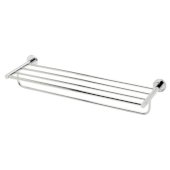 Polished Chrome 26'' Towel Bar & Shelf Bathroom Accessory, 25-3/4'' W x 8-1/8'' D x 4-1/2'' H