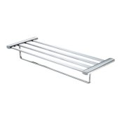 Polished Chrome 24'' Towel Bar & Shelf Bathroom Accessory, 23-3/4'' W x 8-3/4'' D x 3-5/8'' H
