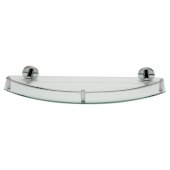 Polished Chrome Wall Mounted Glass Shower Shelf Bathroom Accessory, 19-3/4'' W x 6-3/4'' D x 2-1/2'' H