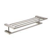 Brushed Nickel 26'' Towel Bar & Shelf Bathroom Accessory, 25-7/8'' W x 8-3/8'' D x 4-1/2'' H
