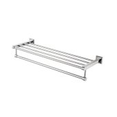 Polished Chrome 26'' Towel Bar & Shelf Bathroom Accessory, 25-7/8'' W x 8-3/8'' D x 4-1/2'' H