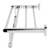 Polished Chrome 24'' Towel Bar & Shelf Bathroom Accessory, 23-5/8'' W x 8-1/8'' D x 2-7/8'' H