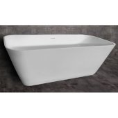 67'' White Rectangular Solid Surface Smooth Resin Soaking Bathtub, 67-3/4'' W x 31-1/4'' D x 23-1/4'' H