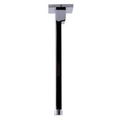 Polished Chrome 9'' Modern Square Ceiling Mounted Shower Arm, 2-3/8'' W x 2-3/8'' D x 9-1/2'' H