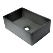 ALFI brand 30'' Reversible Single Fireclay Farmhouse Kitchen Sink in Concrete Color, 29-3/4'' W x 20-1/8'' D x 9-7/8'' H