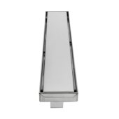 ALFI brand 24'' Long Modern Linear Shower Drain with Solid Cover in Polished Stainless Steel, 24'' W x 3'' D x 3-1/8'' H