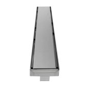 ALFI brand 32'' Modern Linear Shower Drain with Solid Cover in Polished Stainless Steel, 32'' W x 3'' D x 3-1/8'' H