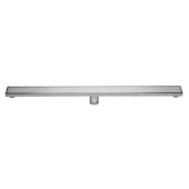 ALFI brand 36'' Modern Linear Shower Drain with Solid Cover in Polished Stainless Steel, 36'' W x 3'' D x 3-1/8'' H