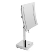 ALFI brand 8'' Tabletop Square 5X Magnifying Cosmetic Mirror with Light in Polished Chrome, 7-7/8'' W x 7-7/8'' D x 14-5/8'' H