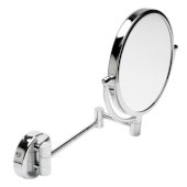 ALFI brand 8'' Round Wall Mounted 5X Magnify Cosmetic Mirror in Polished Chrome, 9-7/8'' Diameter x 10-1/4'' D x 12-1/8'' H