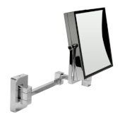 ALFI brand 8'' Square Wall Mounted 5X Magnify Cosmetic Mirror in Polished Chrome, 8'' W x 17-1/8'' D x 12-7/8'' H
