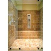 ALFI brand 8'' x 36'' Vertical Triple Shelf Bath Shower Niche in Brushed Stainless Steel, 8'' W x 4'' D x 36'' H