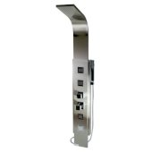 ALFI brand Modern Shower Panel with 4 Body Sprays in Brushed Stainless Steel, 7-7/8'' W x 17-3/4'' D x 59'' H