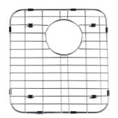 Left Side Solid Stainless Steel Kitchen Sink Grid, 13-3/4'' W x 15'' D x 1'' H