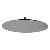 Polished Chrome 16'' Round Multi Color LED Rain Shower Head, 15-3/4'' Diameter x 3/8'' H