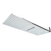 ALFI brand 10'' Wall Mounted Square Waterfall Rain Shower Head in Polished Chrome, 9-7/8'' W x 23-5/8'' D x 3/8'' H