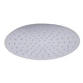 12'' Oval Polished Solid Stainless Steel Ultra Thin Rain Shower Head, 12'' W x 8'' D x 1/8'' H