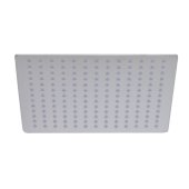 Solid Brushed Stainless Steel 12'' Square Ultra Thin Rain Shower Head, 12'' W x 12'' D x 1/8'' H