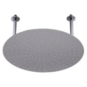 20'' Round Brushed Solid Stainless Steel Ultra Thin Rain Shower Head, 20'' Diameter x 1/8'' H