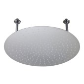 24'' Round Polished Solid Stainless Steel Ultra Thin Rain Shower Head, 24'' Diameter x 1/8'' H