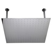 24'' Square Polished Solid Stainless Steel Ultra Thin Rain Shower Head, 24'' W x 24'' D x 1/8'' H