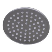Solid Brushed Stainless Steel 8'' Round Ultra Thin Rain Shower Head, 8'' Diameter x 1/8'' H