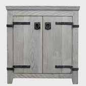 30'' Americana Bathroom Vanity Base Only in Driftwood, 30''W x 21-1/2''D x 33''H