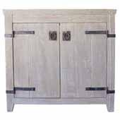 36'' Americana Bathroom Vanity Base Only in Driftwood, 36''W x 21-1/2''D x 33''H