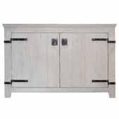 48'' Americana Bathroom Vanity Base Only in Whitewash, 48''W x 21-1/2''D x 33''H