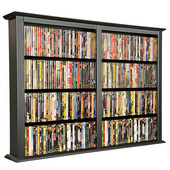 Wall Mounted Cabinet-Double 52'' W x 8-1/2'' D x 36-1/4'' H, Black