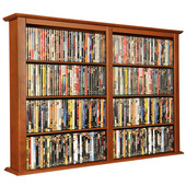 Wall Mounted Cabinet-Double 52'' W x 8-1/2'' D x 36-1/4'' H, Cherry