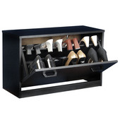 Single Shoe Cabinet, 30'' W x 11-1/2'' D x 18'' H, Black