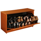 Single Shoe Cabinet, 30'' W x 11-1/2'' D x 18'' H, Cherry