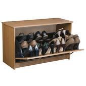 Single Shoe Cabinet, 30'' W x 11-1/2'' D x 18'' H, Oak