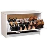 Single Shoe Cabinet, 30'' W x 11-1/2'' D x 18'' H, White