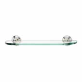 Embassy Series 18'' Glass Shelf With Brackets in Polished Nickel