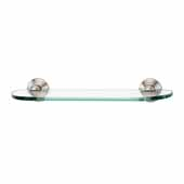Embassy Series 18'' Glass Shelf With Brackets in Satin Nickel