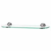 Embassy Series 24'' Glass Shelf With Brackets in Polished Chrome