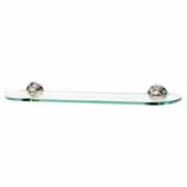 Embassy Series 24'' Glass Shelf With Brackets in Polished Nickel