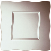 Frameless Square Wavy Bathroom Mirror, 22''W x 22''H