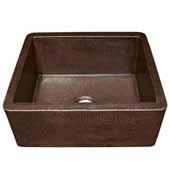Farmhouse 25 Kitchen Sink In Antique Copper, 25''W X 19''D X 10''H