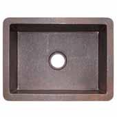 Cocina 24 Kitchen Sink In Antique Copper, 24''W X 18''D X 10-1/2''H