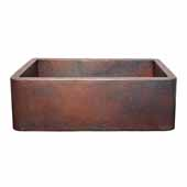 Farmhouse 30 Kitchen Sink In Antique Copper, 30''W X 18-1/2''D X 10''H