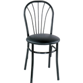Café Metal Sidechair with Grade 1 Vinyl Seat 16''D x 34''H