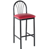 Alston Parlor Bar Stool with Black Metal Frame and Upholstered Grade 2 Vinyl