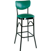 Alston Paddle Back Bar Stool with Metal Frame and Upholstered Grade 2 Vinyl Seat 30