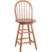 Windsor Barstool with Spindle Back 24''